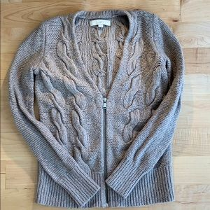 Loft Cable Cardigan Sz S